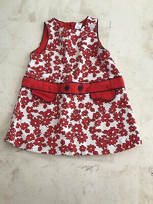 Baby Gap Infant Girls 12-18M Tunic Dress Red Floral Flowers