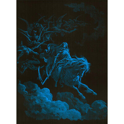 "Death Rides a Pale Horse Blacklight Poster - 24""x36"""