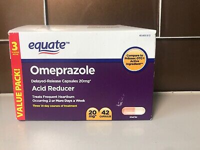 """TRIPLE PACK EQUATE 20mg OMEPRAZOLE = TO 20.6mg """"ACID REDUCER"""" 01/20+ READ ALL"""
