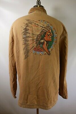 C6043 VTG POLO COUNTRY RALPH LAUREN INDIAN NATIVE AMERICAN Jacket Size XL USA