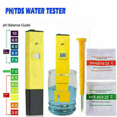 Water Pen Portable Digital Aquarium Pool Hydroponics PH Meter Tester Test Kit UK