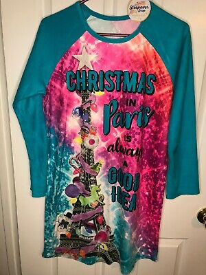 NWT Girls Justice Night Gown- Christmas in Paris is always a Good Idea