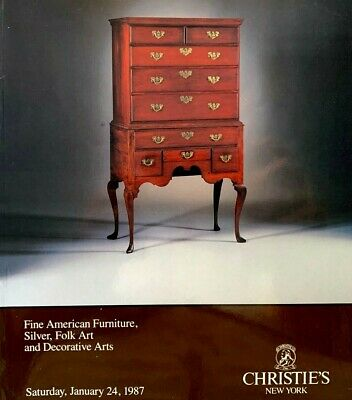 Christie's - Fine American Furniture Silver Folk Art Decor 1987 Auction Catalog