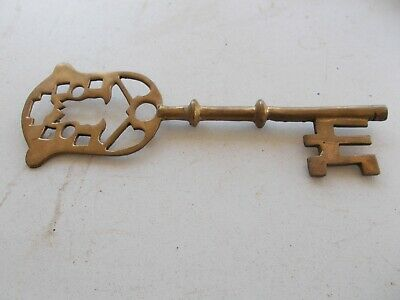 Antique  Large Solid Brass Key