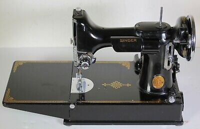 Exquisite 1939 ScrollFace Singer Featherweight 221 Sewing Machine w/case more