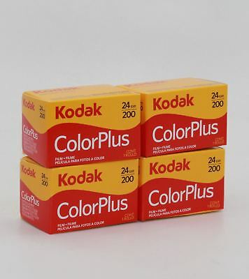 Four Kodak ColorPlus 200 35mm Colour Film Rolls: 24 photos a roll - Exp. 10/2021