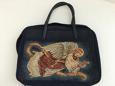 Zondervan Gifts Canvas Bible Cover Carrier with Angel, Size Large, Zip Around