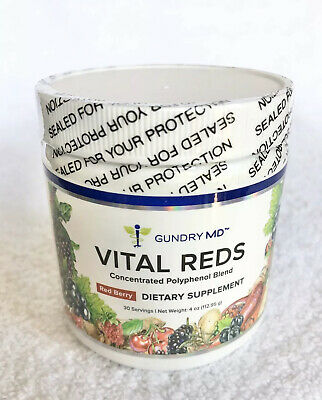 Gundry MD Vital Reds Dietary Supplement Powder Concentrated Polyphenol Blend 4oz