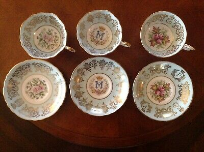 Paragon Royal Historic Commemorative Fine Bone China Tea Cups and Saucers 1950s