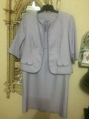 Size 20 Veromia Mother Of The Bride / Groom Beautiful Lilac Dress And Jacket