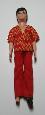 Vintage 1970 Topper Dawn Doll Friend Gary with Red Gold Outfit
