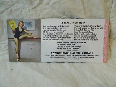 Pinup Girl Swanson-Nunn Electric Advertising  BROWN & BIGELOW Perfect Form