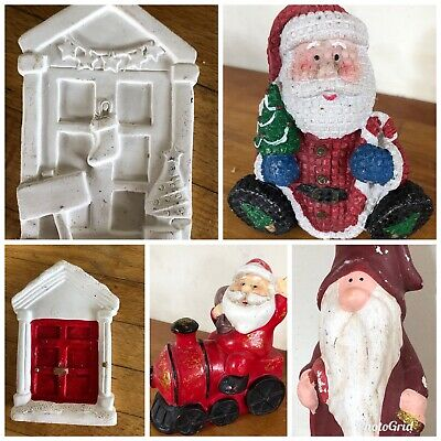 5 latex moulds for making This Lovely Set Of 5 Xmas Themed Items