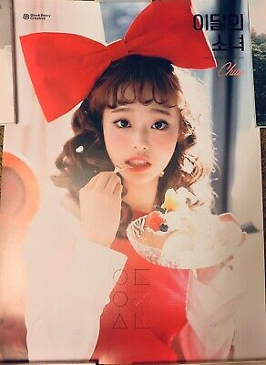 Loona Monthly Girl Chuu Official Poster Unfolded [US SELLER] RARE OOP OOS