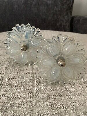 Antique glass curtain tie backs 2 in lot