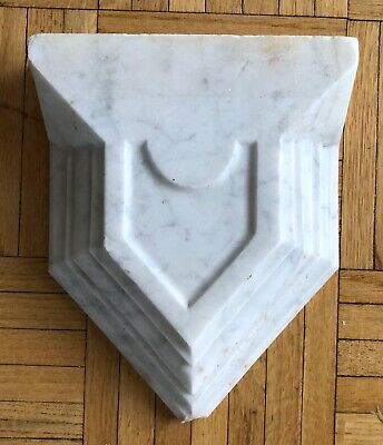 vintage or antique marble architectural piece - salvage - AS IS (chip at point)