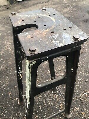 Machinist Factory Stool Metal Top - Industrial Vintage