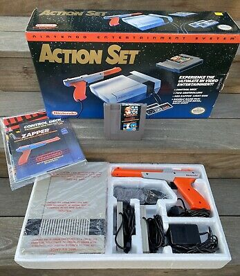 Nintendo Entertainment System Action Set Console NES CIB Complete in Box