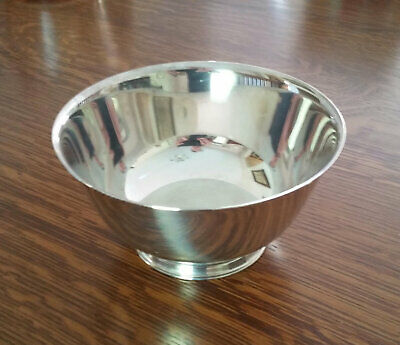 Wm. A. Rogers Medium Silver Plated Bowl, Paul Revere Reproduction