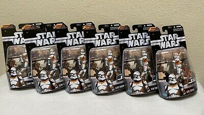Star Wars Clone Trooper Orange The Saga Collection Revenge of the Sith Lot of 6