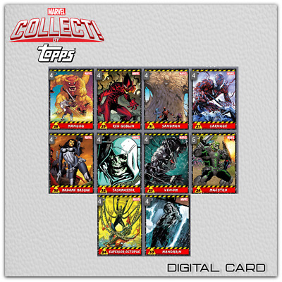 2019 VILLAINS SERIES 3 COMPLETE SET OF 10 CARDS Topps Marvel Collect Digital