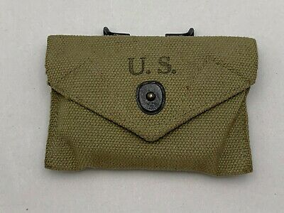 Vintage WWII US Orange Carlisle First Aid Packet W/1943  American Awning Pouch