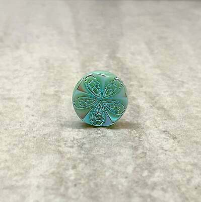 """16 TAN MOONGLOW GLASS BUTTON SELF SHANK ON CARD 3//8/""""  OR 9 mm QUANTITY DISC"""