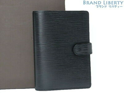 Auth LOUIS VUITTON epi agenda PM Notebook cover system notebook R20052
