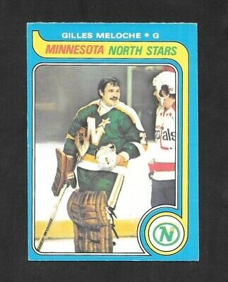 1979-80  Opc Hockey , # 136 , Gilles Meloche , Minnesota North Stars