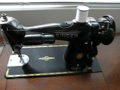 1951 Singer sewing machine 201-2 with cabinet, many attachments and misc. things