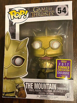 Funko Pop Game Of Thrones The Mountain Armoured 2017 Exclusive #54 DAMAGED