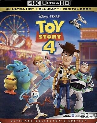 Toy Story 4 4k Ultra HD + Bluray New + Slipcover + Fast First Class Shipping
