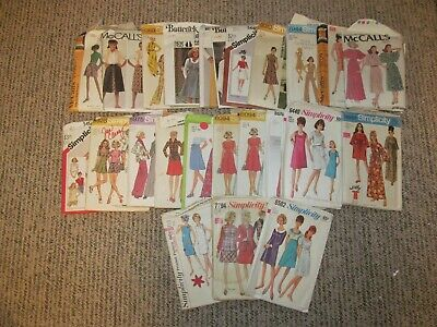 Vintage Lot Of 24 Sewing Patterns Size 10 & 12 Misses Simplicity Butterick McCal