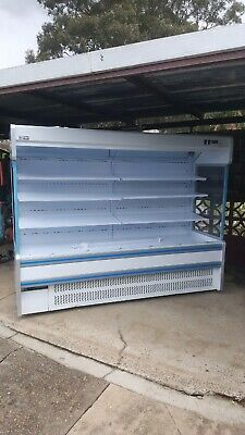 New Muxue 2.5 Metre Air Curtain Dairy Drink Cold Food Display Fridge Cabinet