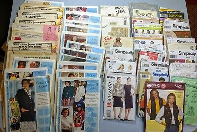 HUGE lot of 48 Womens/Misses' sewing patterns sizes Large to Plus Size CUT/UNCUT