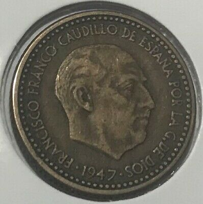 1947 - Una Peseta - Coin Of Spain - Sort After Coin!