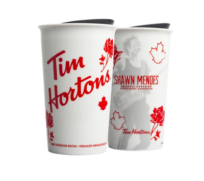 Limited Edition SHAWN MENDES TIM HORTONS CERAMIC TUMBLER MUG White - Pre Order