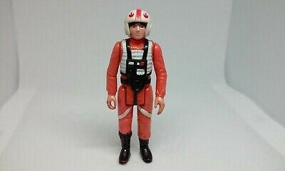 "Vintage Star Wars LUKE SKYWALKER X-WING PILOT 3.75"" Action Figure Hong Kong 1978"
