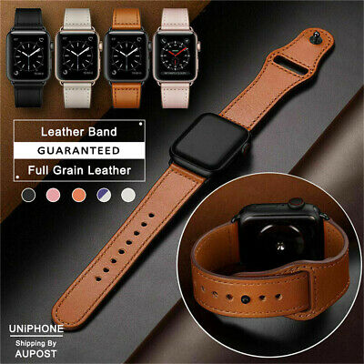 【Genuine Leather】Apple Watch Band Strap for iWatch Series 5 4 3 2 1 38 42 40 44m