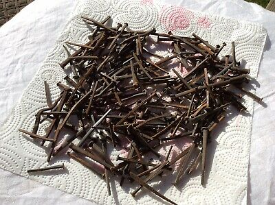 Approx. 1 1/2 Pounds WROUGHT IRON ANTIQUE (1800'S)  SQUARE NAILS ASST SIZES USED
