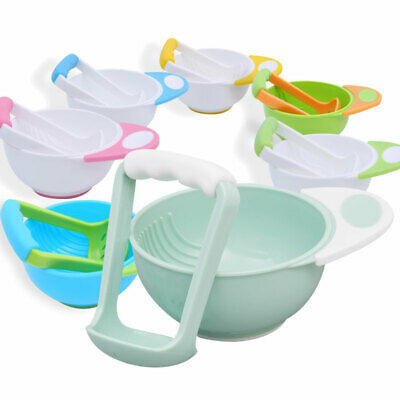 Children Auxiliary Food Grinding Bowl Baby Bowl Grinding Rod Sleeve