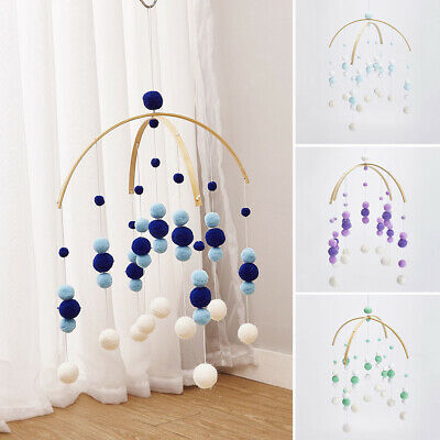 Baby Crib Bed Cot Mobile Wind-up Wooden Beads Newborn Nusery Lullaby Toy DIY