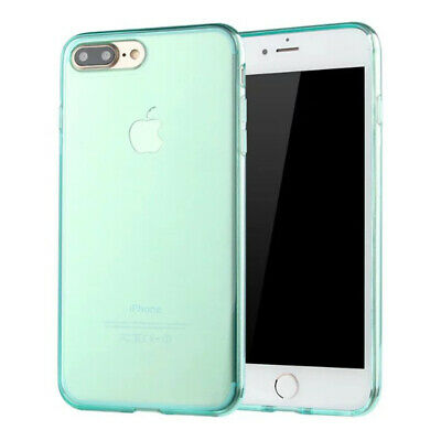 Luxury Green Slim Clear Soft TPU Silicon Rubber Shell Case Cover For Phone 7 8