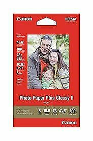 "Canon Photo Paper Plus Glossy II 6"" x 4"" 100 Sheets 265gsm"