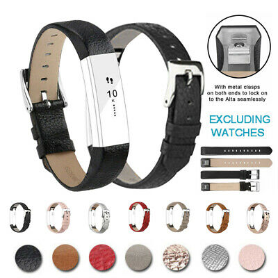 Leather Watch Replacement Bracelet Band Wrist Strap For Fitbit Alta/Alta HR New