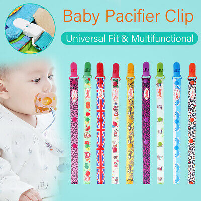 Dummy Clip Baby Kid Soother Clips Teething Teether Chain Holder Pacifier Strap