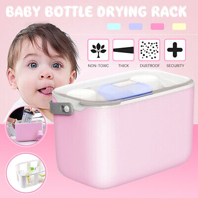 Multifunctional Baby Milk Bottle Storage Box Container Organizer Rack Drying