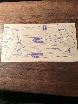 1948 Nabisco Flying Circus airplane cereal cards model Gliding Adaption card