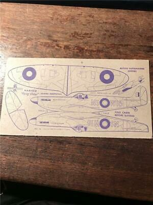 1948 Nabisco Flying Circus airplane cereal cards model Supermarine Spitfire card