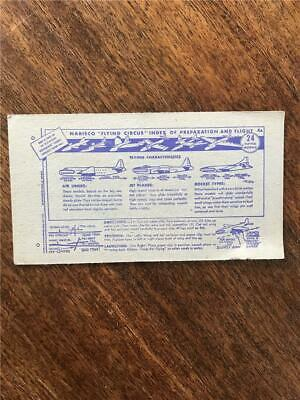 1948 Nabisco Flying Circus airplane cereal cards models cut outs index card